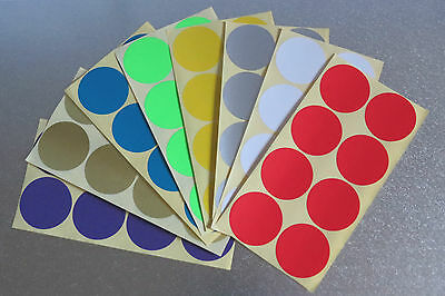 50mm Round 8 Colour Dot Sticker Circle Sticky Self Adhesive Label