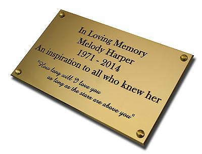 """6"""" x 12"""" Brass Engraved Plaque/Name plate. Deep Engraving in Solid Brass"""