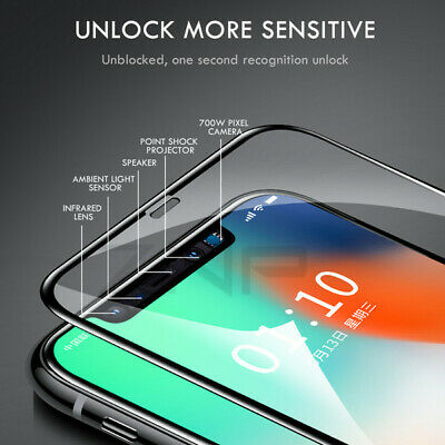 5D Tempered Glass Full Screen Protector Cover for iPhone 7 8 Full Coverage Black
