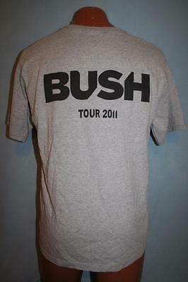 BUSH 2011 Concert Tour STAFF ONLY T-SHIRT M ROCK BAND Upstaging Roadie Crew