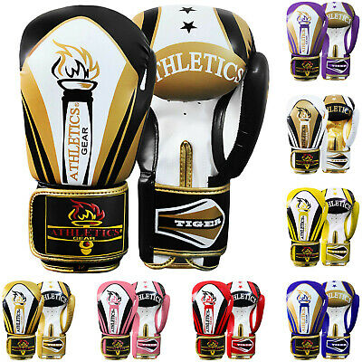Oscar Rex Leather Gel Boxing Gloves Muay Thai Grappling Pad Punch Bag