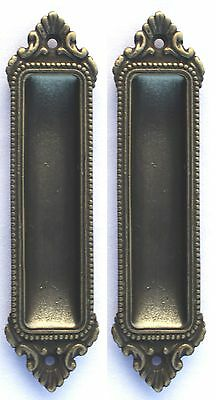 Window Sash Lifts Recessed Finger Pulls Pocket Door Vintage Solid Brass Set of 2
