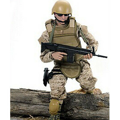 """12"""" 1/6 Military Army Combat Desert ACU Soldier Action Figure Model Toy"""