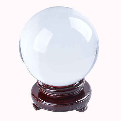 Large Clear Crystal Ball 150mm Quartz Sphere ORB Venue Decoration Free Stand