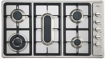 Euro 90cm 5 Gas Burner S/Steel Cooktop with Flame Failure Model EGZ90FCTSXS