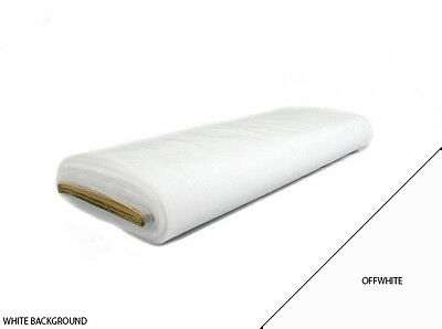 """Bridal wedding tulle fabric 108"""" WIDE By The Bolt - OFF WHITE"""
