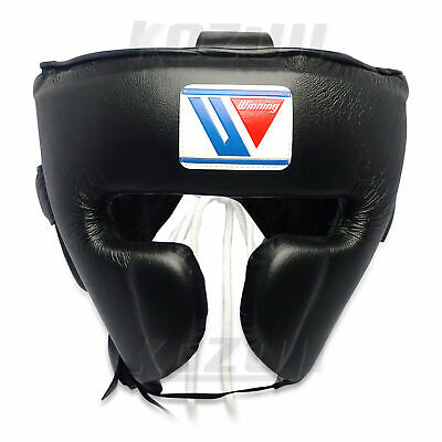 Winning Boxing Headgear FG-2900 Black, Face Guard Design, New from Japan