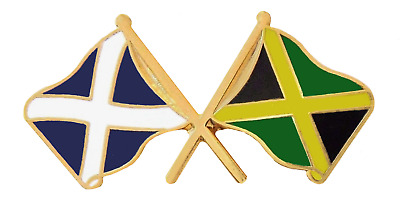 Jamaica Flag & Scotland Flag Friendship Courtesy Pin Badge - T1203