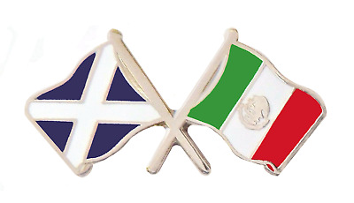 Mexico Flag & Scotland Flag Friendship Courtesy Pin Badge - T1136
