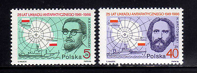 POLONIA/POLAND 1986 MNH SC.2733/2734 Antartic Agreement