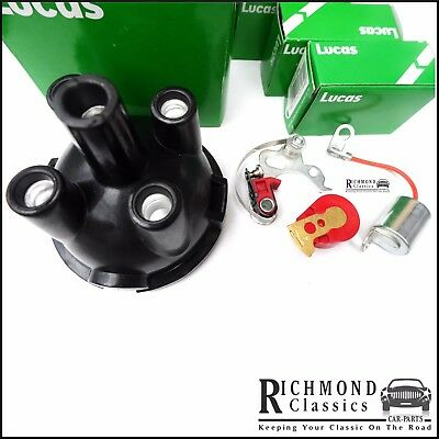 MGB GT Distributor Cap, Rotor Arm, Points Condenser Ignition Kit, LUCAS DDB106+