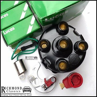 British Leyland 45D Distributor Cap, Rotor Arm, Points and Condenser Kit LUCAS