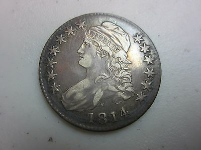 1814 Bust Half Dollar 4 Over 3 Over Date