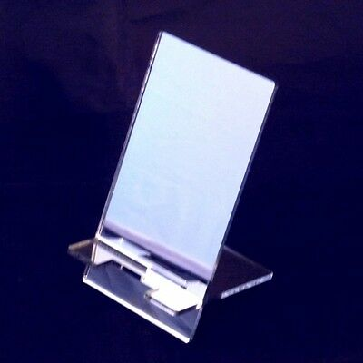 10 x Large Mirror Acrylic Mobile Phone Stand (12cm x 6.5cm Rest Area)