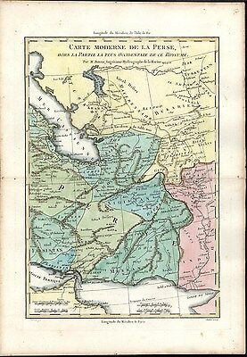 Persia Caspian Sea 1780 antique engraved hand color map