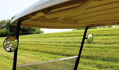"PAIR of 6"" spot mirrors, universal fit for golf carts EZ Go, Club Car, Yamaha..."