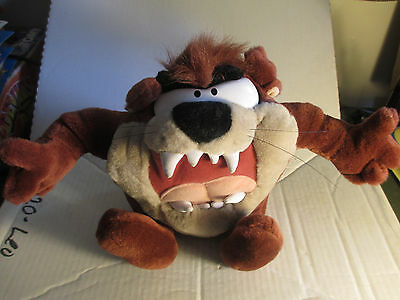 "1997 Looney Tunes 10"" Talking Shaking Tazz Plush Stuffed Animal Play by Play"