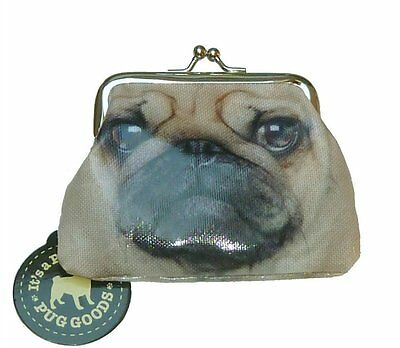 Cute Mini Brown Puppy Pug Dog Coin purse Clasp Fastening Xmas Stocking Filler
