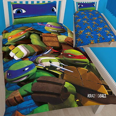 Teenage Mutant Ninja Turtles Team Single Panel Duvet Cover Bed Set New Gift