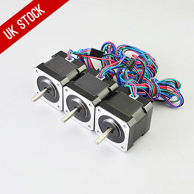 3PCS 45Ncm Nema 17 Stepper Motor 2A 4-wire 1m Cable for DIY 3D Printer CNC Robot