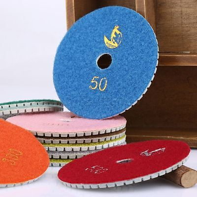 4 inch Wet Dry Diamond Polishing Pads 10 Piece Set Granite Stone Concrete Marble