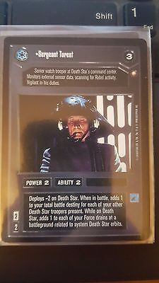Star Wars CCG Special Edition Sergeant Torent NrMint-MINT SWCCG