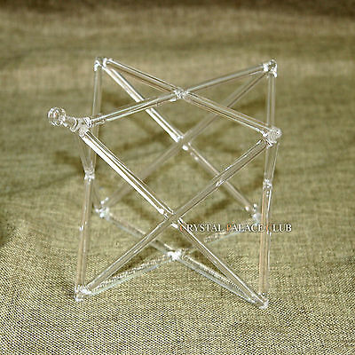 "Optically Clear Quartz Crystal Singing Merkaba Pyramid 6.5"" Crystal Singing Bowl"