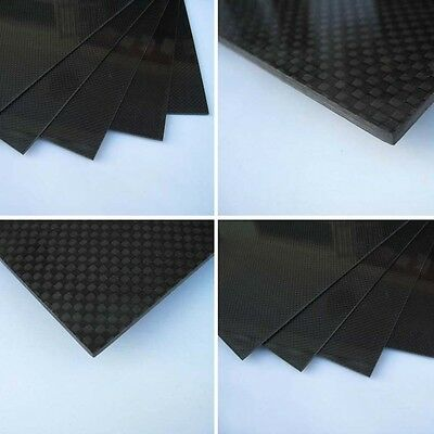 200×300×3mm With 100% Real Carbon Fiber plate panel sheet 3K plain weave OE