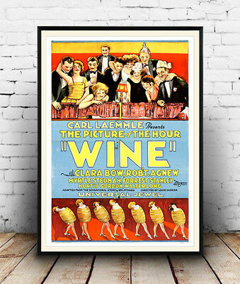 Wine 1924 - Vintage Movie, Wall art, Poster Reproduction