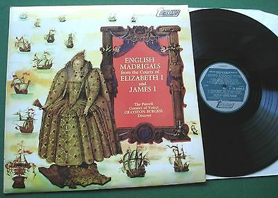 English Madrigals Courts Elizabeth I & James I Purcell Consort TV 34202S LP