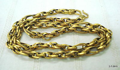 20 kt gold chain necklace vintage gold chain antique gold chain handmade