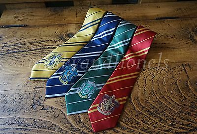 Harry Potter Style House Badge Ties Fancy Dress Cosplay Film Replica Book Day