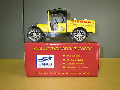 SHELL 1916 STUDEBAKER TANKER - Die Cast Coin Bank - NIB
