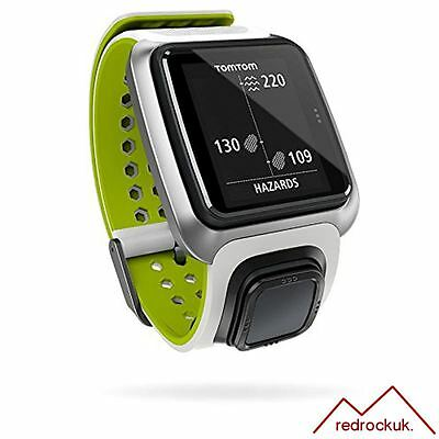 TomTom Golfer GPS Bluetooth Waterproof Golf Watch Range Distance Finder - White