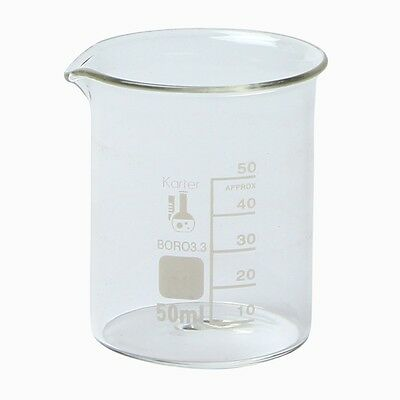 Karter Scientific, 50 ml Low Form Graduated Glass Beaker