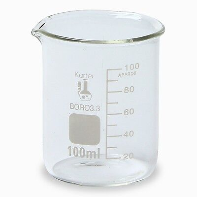 Karter Scientific, 100 ml Low Form Graduated Glass Beaker