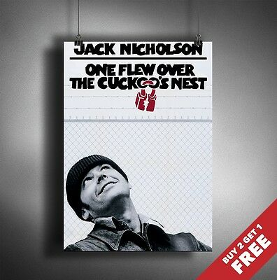 ONE FLEW OVER THE CUCKOO/'S NEST MOVIE Film Cinema wall Home Posters #21 A3