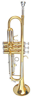 New Gold/Silver  Band Trumpet W/Case-Approved+ Warranty