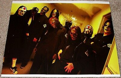 Slipknot Backstage Group Tribute Poster Rare Import!