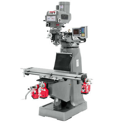 Jet JTM-4VS Mill with ACU-RITE VUE DRO with X, Y and Z-Axis Powerfeeds 690417