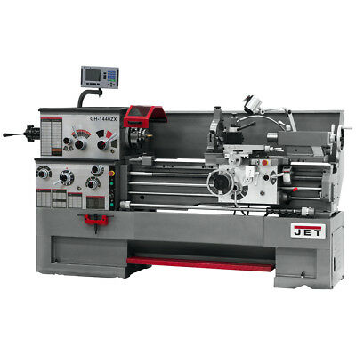 JET GH-1440ZX Large Spindle Bore Lathe w/ ACU-RITE 300S Taper & Collet Closer