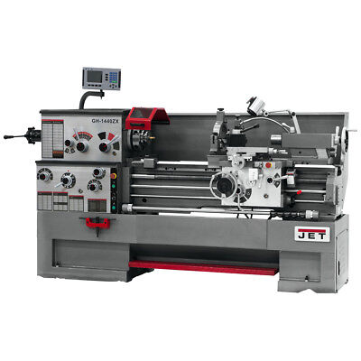 JET GH-1440ZX Large Spindle Bore Lathe With Newall DP700 DRO