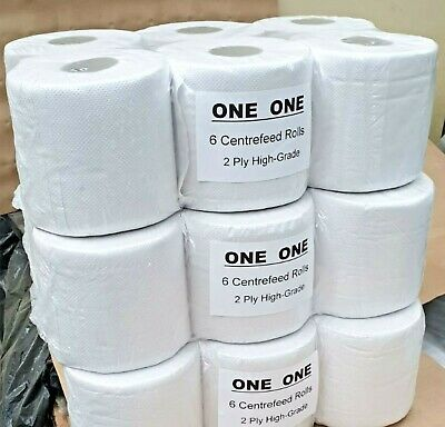 Centrefeed Blue Roll Embossed 2 ply Kitchen Cleaning Wipe Paper Towel 6 12 18 24