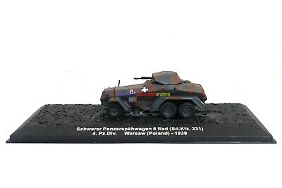 New 1/72 Diecast Tank German Sd.Kfz.222 Vehicle Military Model Toy Soldiers