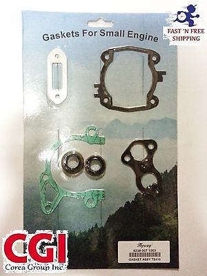 Stihl TS410, TS420 complete engine gasket set with oil seals