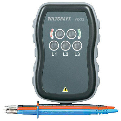 Voltcraft VC-32 Phase Rotation Tester 3 Phase Sequence Presence Meter Tool