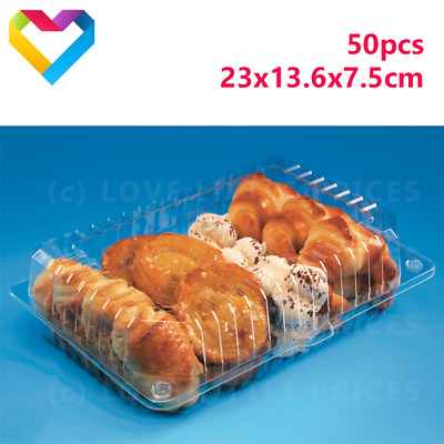 Salad Cake MUFFIN Pastry 2199 50 pcs Plastic Disposable Clear BOX