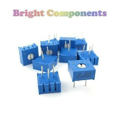 5 x 100 Ohm 3386 Trimmer Potentiometer Preset Variable Resistor-1st CLASS POST