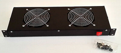 NEW Cooling Fan Unit - Two AC 220/240V Rotary Fans FP-108-1 COMMONWEALTH