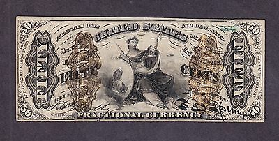 """US 50c Fractional Currency """"a"""" FR 1365 VF-XF"""